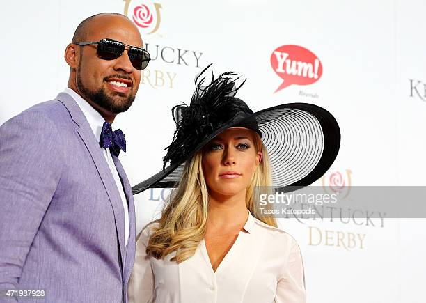 Hank Baskett and Kendra WilkinsonBaskett attend the 141st Kentucky Derby at Churchill Downs on May 2 2015 in Louisville Kentucky