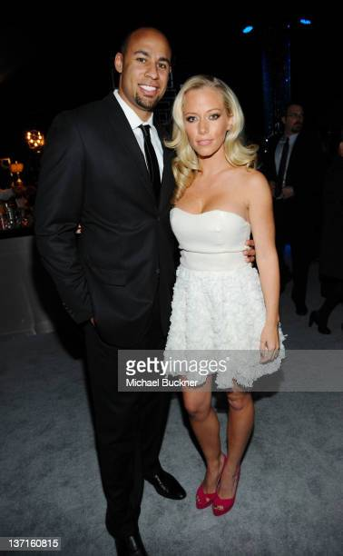 Hank Baskett and Kendra Wilksinson attend NBCUniversal's 69th Annual Golden Globes Viewing and After Party Sponsored By Chrysler and Hilton at The...