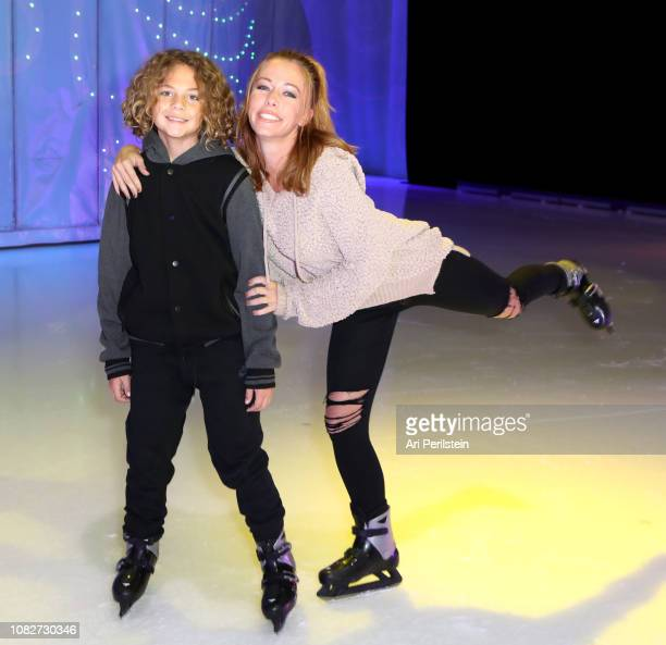 Hank Baskett Jr and Kendra Wilkinson attend Disney On Ice Presents Dare to Dream Celebrity Skating Party at Staples Center on December 14 2018 in Los...