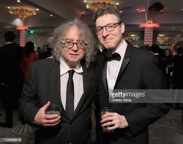 Hank Corwin and Nicholas Britell attend the 2019 Writers Guild Awards LA Ceremony at The Beverly Hilton Hotel on February 17 2019 in Beverly Hills...