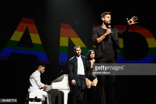 Hank Fortener of CAST Centers speaks onstage during the Demi Lovato and Nick Jonas Honda Civic Tour Future Now at Amway Center on July 2 2016 in...
