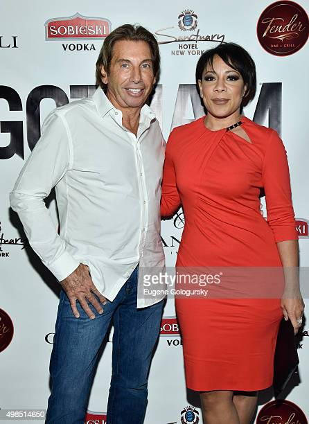 Hank Freid and Selenis Leyva attend the GOTHAM Men's event with host Antonio Cromartie at Tender Restaurant in The Sanctuary Hotel at Tender at the...