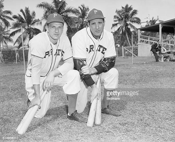 3/4/1947 Hank Greenberg and Ralph Kiner of the Pittsburgh Pirates