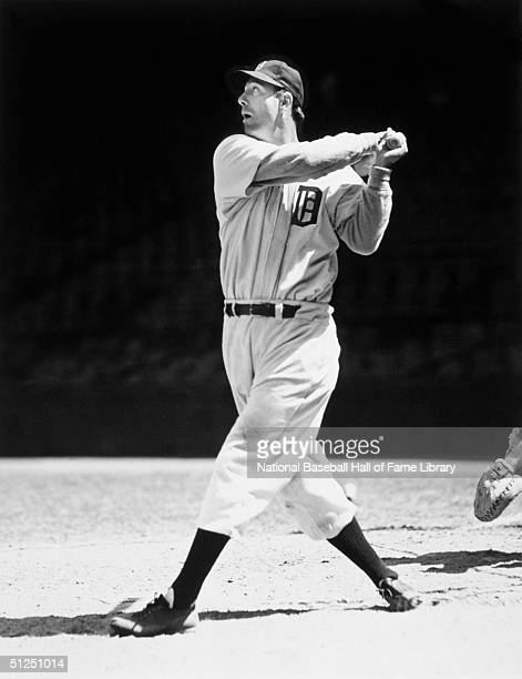 Hank Greenberg of the Detroit Tigers swings at the pitch during a season game Hank Greenberg played for the Detroit Tigers from 19301946