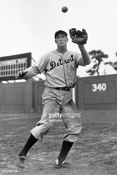 Hank Greenberg player for the Detroit Tigers in action Undated photograph