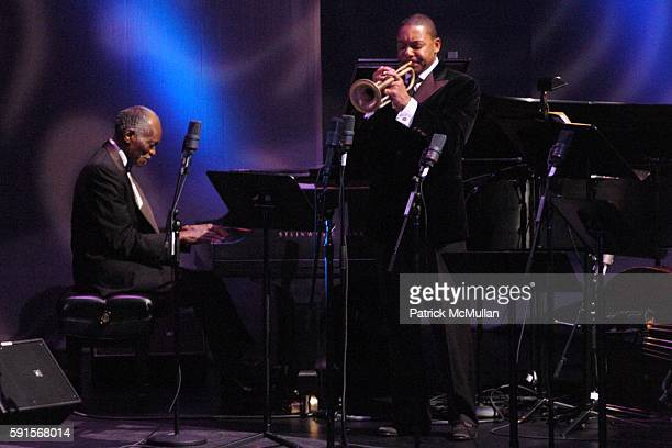 Hank Jones and Wynton Marsalis attend Jazz at Lincoln Center Celebrates 25 Years of Wynton Marsalis with the 14th Annual Fall Gala at Frederick P...