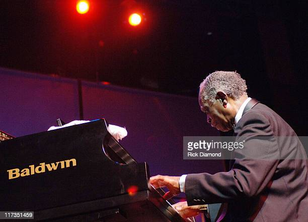 Hank Jones during GRAMMY Salute to Jazz at Music Box at Fonda Theatre in Los Angeles California United States