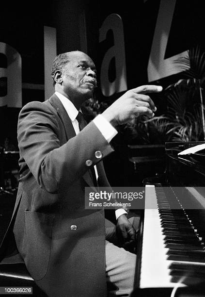 Hank Jones performs live on stage at the NOS Jazz Festival at Meervaart in Amsterdam Netherlands on August 12 1982