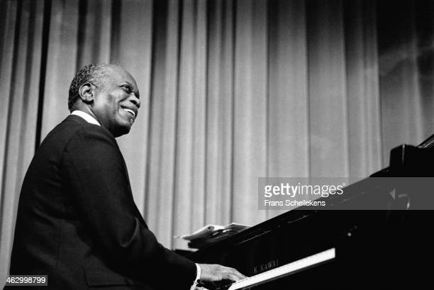 Hank Jones piano performs at the North Sea Jazz Festival in the Hague the Netherlands on 124 July 1990