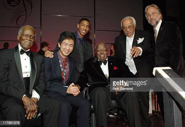 Hank Jones Yuma Christian Oscar Peterson Barry Harris and Neil Portnow President of the Recording Academy