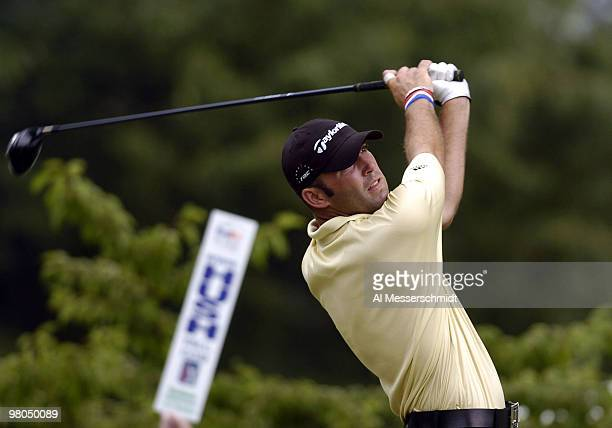 Hank Kuehne competes in final-round play at the FedEx St. Jude Classic May 30, 2004 at the Tournament Players Club Southwind, Memphis, Tennessee.