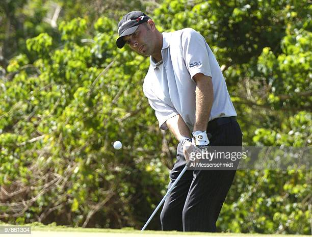 Hank Kuehne plays the Magnolia course at Walt Disney World Resort during final-round competition at the Funai Classic, October 24, 2004.
