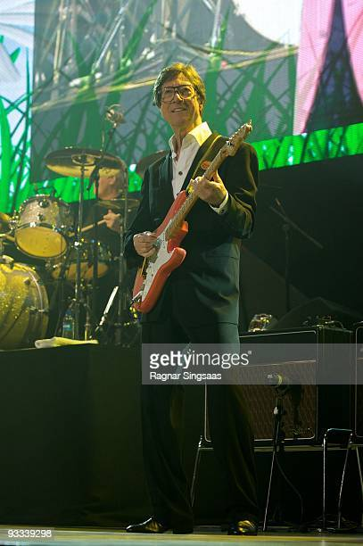 Hank Marvin performs at Oslo Spektrum on November 23 2009 in Oslo Norway