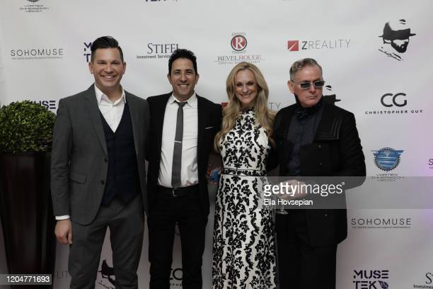 Hank Stampfl Rafael Feldman Consuelo Vanderbilt Costin and Montgomery Frazier at the LA Launch Event Of SohoMuse at Christopher Guy West Hollywood...