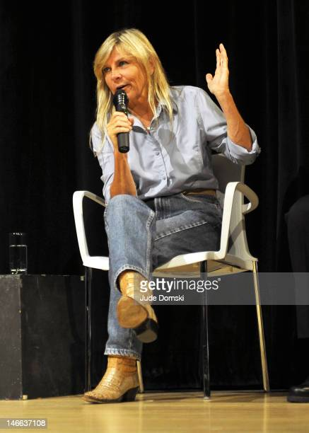 Hank Williams daughter Jett Williams speaks at the The Last Ride Panel Discussion at the New School's Tischman Auditorium on June 20 2012 in New York...