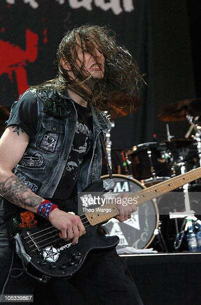 Hank Williams III of Superjoint Ritual during OzzFest 2004 Tour Opener at CTNow Meadows in Hartford Conneticut United States