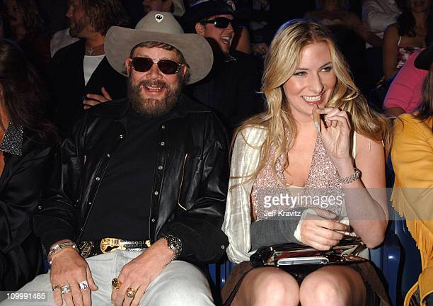 Hank Williams Jr and guest during 2006 CMT Music Awards Backstage and Audience at Curb Events Center at Belmont University in Nashville Tennessee...