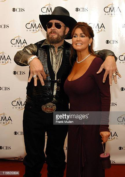 Hank Williams Jr and wife Mary Jane during 37th Annual CMA Awards Arrivals at The Grand Ole Opry in Nashville TN United States