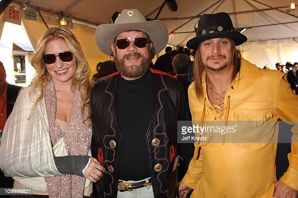 Hank Williams Jr guest and Kid Rock during 2006 CMT Music Awards Red Carpet at Curb Events Center at Belmont University in Nashville Tennessee United...