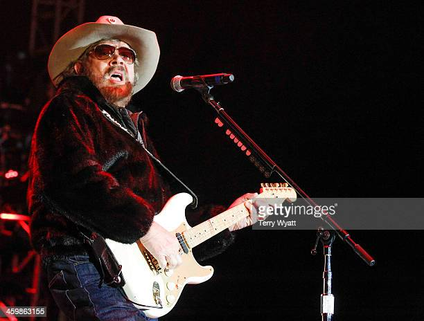 Hank Williams, Jr. Performs at the Fifth annual New Year's Eve Bash on Broadway on December 31, 2013 in Nashville, Tennessee.