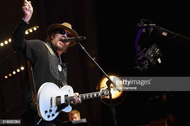 Hank Williams, Jr. Performs at The Life & Songs of Kris Kristofferson produced by Blackbird Presents at Bridgestone Arena on March 16, 2016 in...