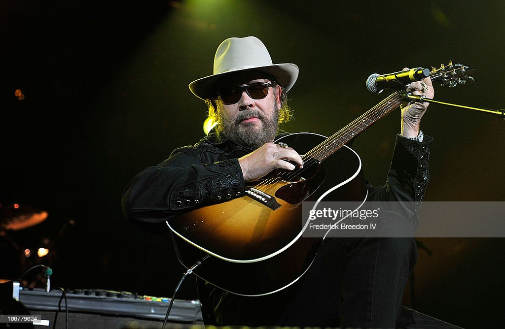 Hank Williams, Jr. performs during Keith Urban's Fourth annual We're All For The Hall benefit concert at Bridgestone Arena on April 16, 2013 in Nashville, Tennessee.