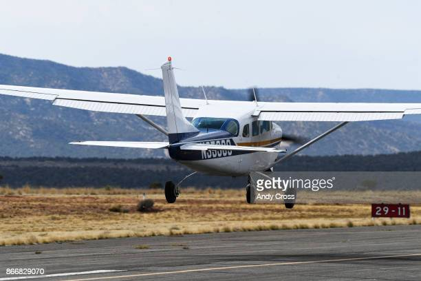 Hank Williams takes off from the Nucla Hopkins Airport October 19 2017 Williams owner of Williams construction followed Ward Priestley an employee of...