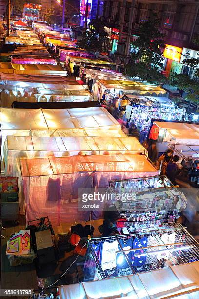 hankou at night - wuhan stock photos and pictures