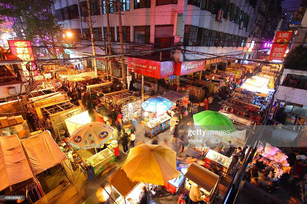 Hankou night market : Stock Photo