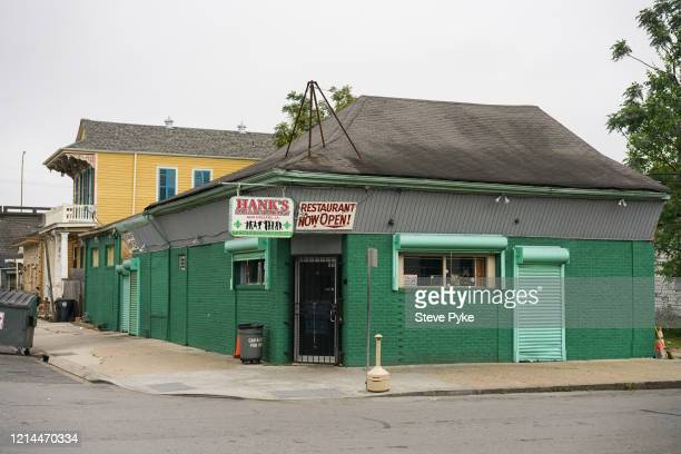 Hank's Bar and cajun restaurant on N Robertson Street in the French Quarter of New Orleans is closed amid restrictions in place to help deal with the...