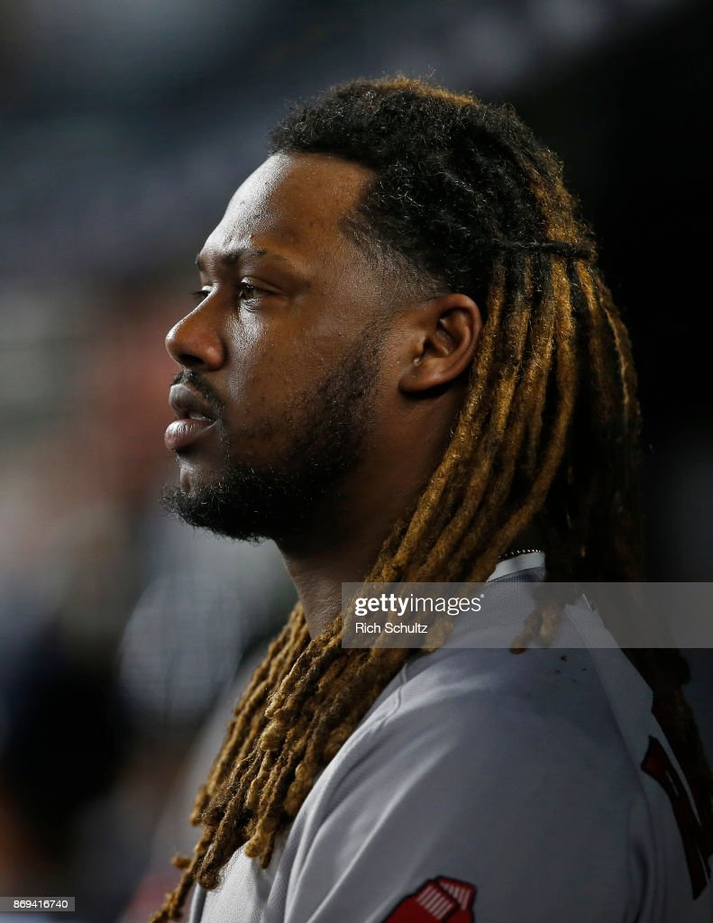 Hanley Ramirez #13 of the Boston Red Sox in action against the New York Yankees during a game at Yankee Stadium on September 3, 2017 in the Bronx borough of New York City.