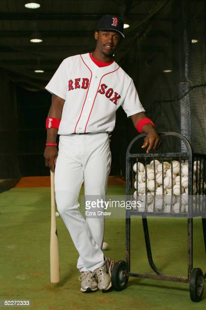 Hanley Ramirez of the Boston Red Sox poses for a portrait during Red Sox Photo Day at the Red Sox spring training complex on February 26 2005 in Fort...