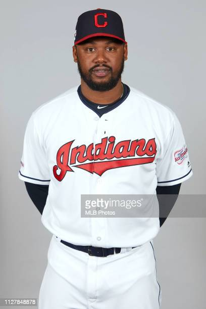 Hanley Ramirez of the Cleveland Indians poses during Photo Day on Wednesday February 27 2019 at Goodyear Ballpark in Goodyear Arizona
