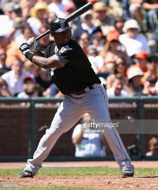 Hanley Ramirez of the Florida Marlins bats against the San Francisco Giants on July 29 2007 at ATT Park in San Francisco California The Marlins won 85