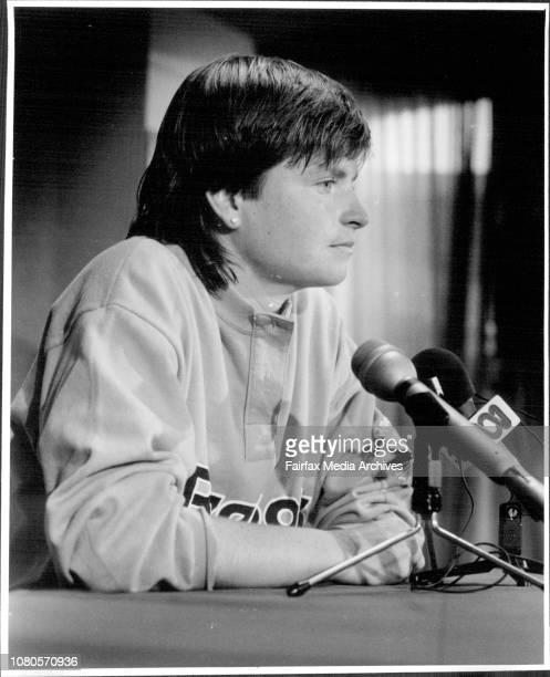Hann Mandlikova in Brisbane today she is request Australian Citizenship also in pic her coach Betty Stove December 26 1986