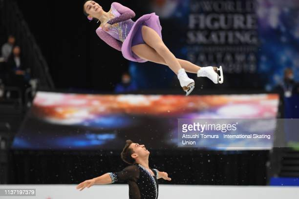 Hanna Abrazhevich and Martin Bidar of Czech Republic compete in the Pairs free skating during day 2 of the ISU World Figure Skating Championships...