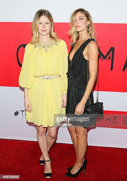 Hanna Alstrom and Cissi Forss attend the premiere of Open Road Films' 'The Gunman' at Regal Cinemas LA Live on March 12 2015 in Los Angeles California