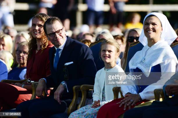 Hanna Öberg Prince Daniel of Sweden Princess Estelle of Sweden and Crown Princess Victoria of Sweden are seen on the occasion of The Crown Princess...