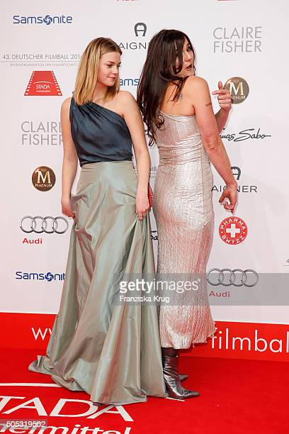 Hanna Binke and Katja von Garnier during the German Film Ball 2016 at Hotel Bayerischer Hof on January 16 2016 in Munich Germany
