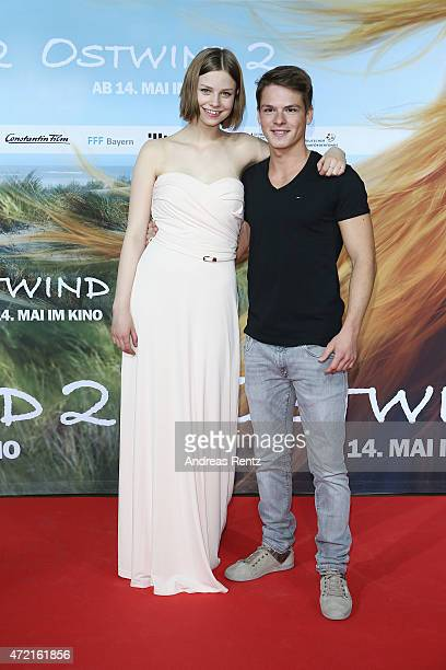 Hanna Binke and Marvin Linke attend the Frankfurt premiere of the film 'Ostwind 2' on May 4 2015 in Frankfurt am Main Germany