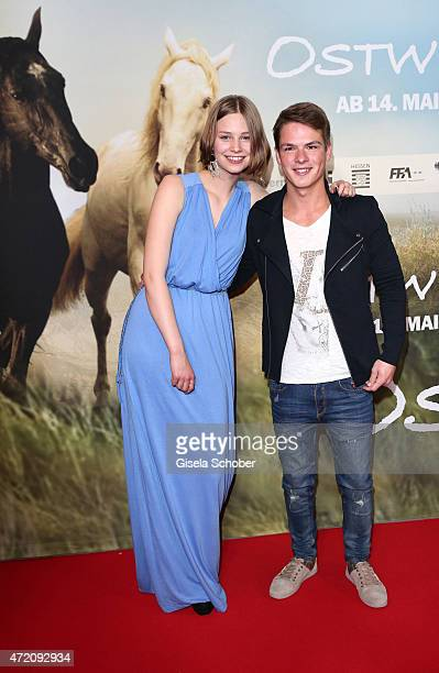 Hanna Binke and Marvin Linke during the German premiere of the film 'Ostwind 2' on May 3 2015 in Munich Germany