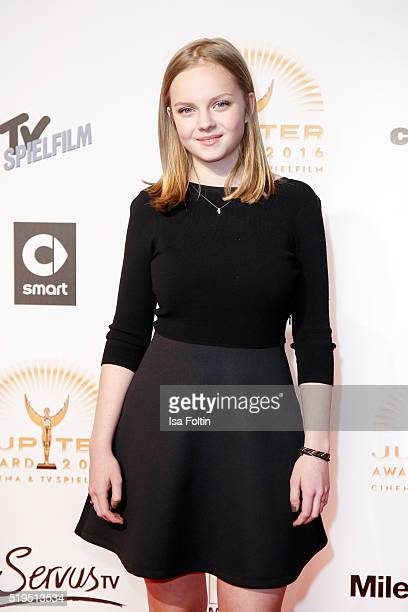 Hanna Binke and smart attend the Jupiter Award 2016 on April 06 2016 in Berlin Germany