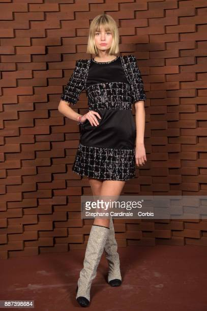 Hanna Binke during attends the Chanel Collection Metiers d'Art Paris Hamburg 2017/18 at The Elbphilharmonie on December 6 2017 in Hamburg Germany