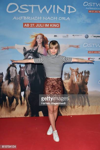 Hanna Binke during the 'Ostwind Aufbruch nach Ora' premiere n Munich at Mathaeser Filmpalast on July 16 2017 in Munich Germany