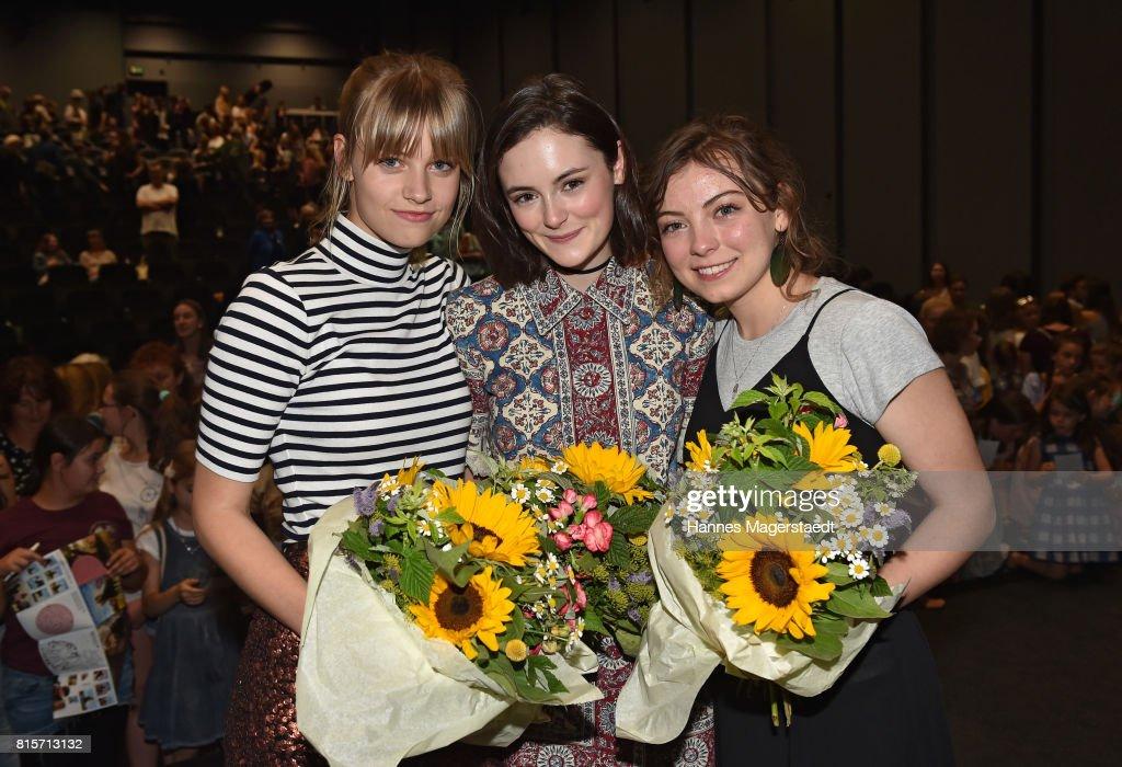 Hanna Binke, Lea van Acken and Nicolette Krebitz during the 'Ostwind - Aufbruch nach Ora' premiere n Munich at Mathaeser Filmpalast on July 16, 2017 in Munich, Germany.