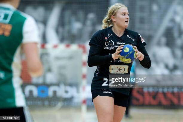 Hanna Blomstrand of Copenhagen Handball in action during the Danish HTH Go Ligaen match between Copenhagen Handball and Silkeborg Voel in...