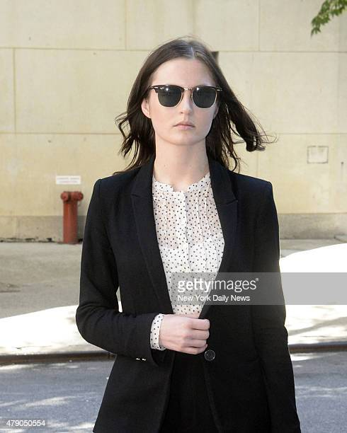 Hanna Bouveng arrives at Manhattan Federal Court She is suing her former Wall Street boss Benjamin Wey for $75 million for sexual harassment