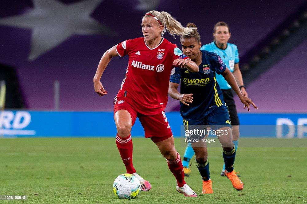 Olympique Lyon Women's v FC Bayern Muenchen Women's - UEFA Women's Champions League Quarter Final : News Photo