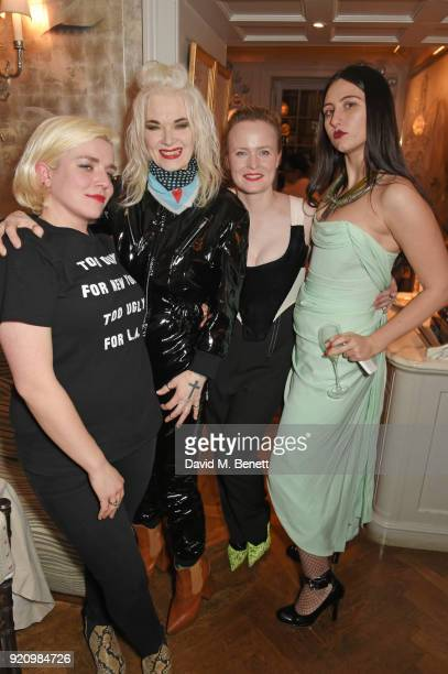 Hanna Hanra Pam Hogg Louise Grey and Reba Maybury attend the LOVE x Miu Miu Women's Tales dinner hosted by Katie Grand and Elle Fanning at Loulou's...