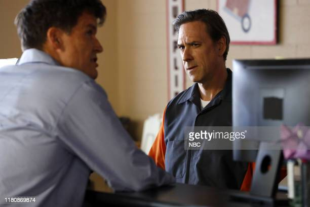 THE BLACKLIST Hanna Hayes Episode 707 Pictured Mark Deklin as Governor Richard Sweeney Kevin Orton as Storage Manager